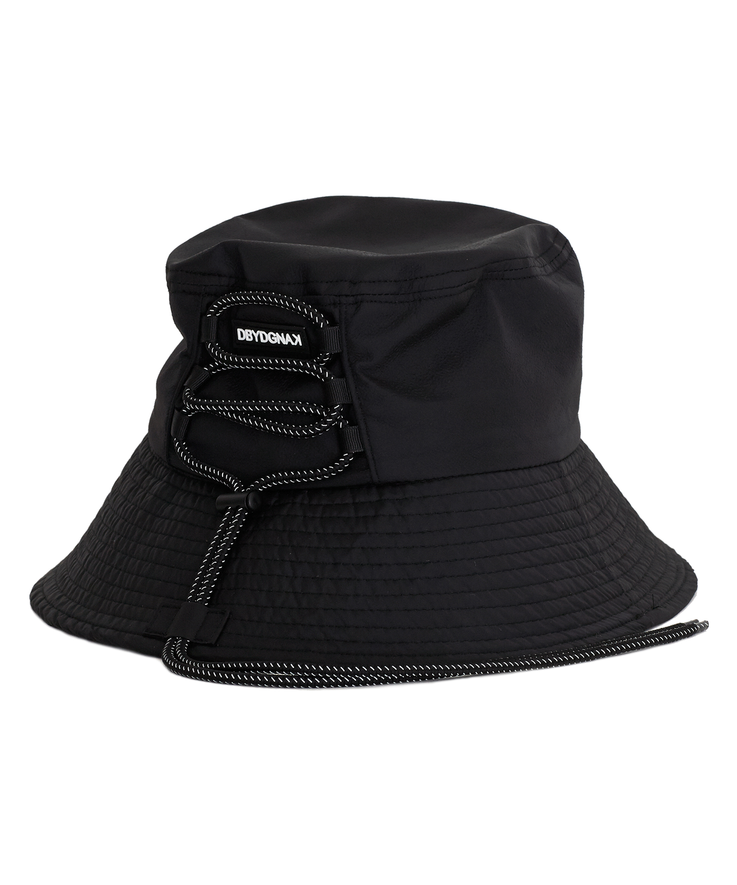 [18FW][ Back String Bucket Hat(BK)