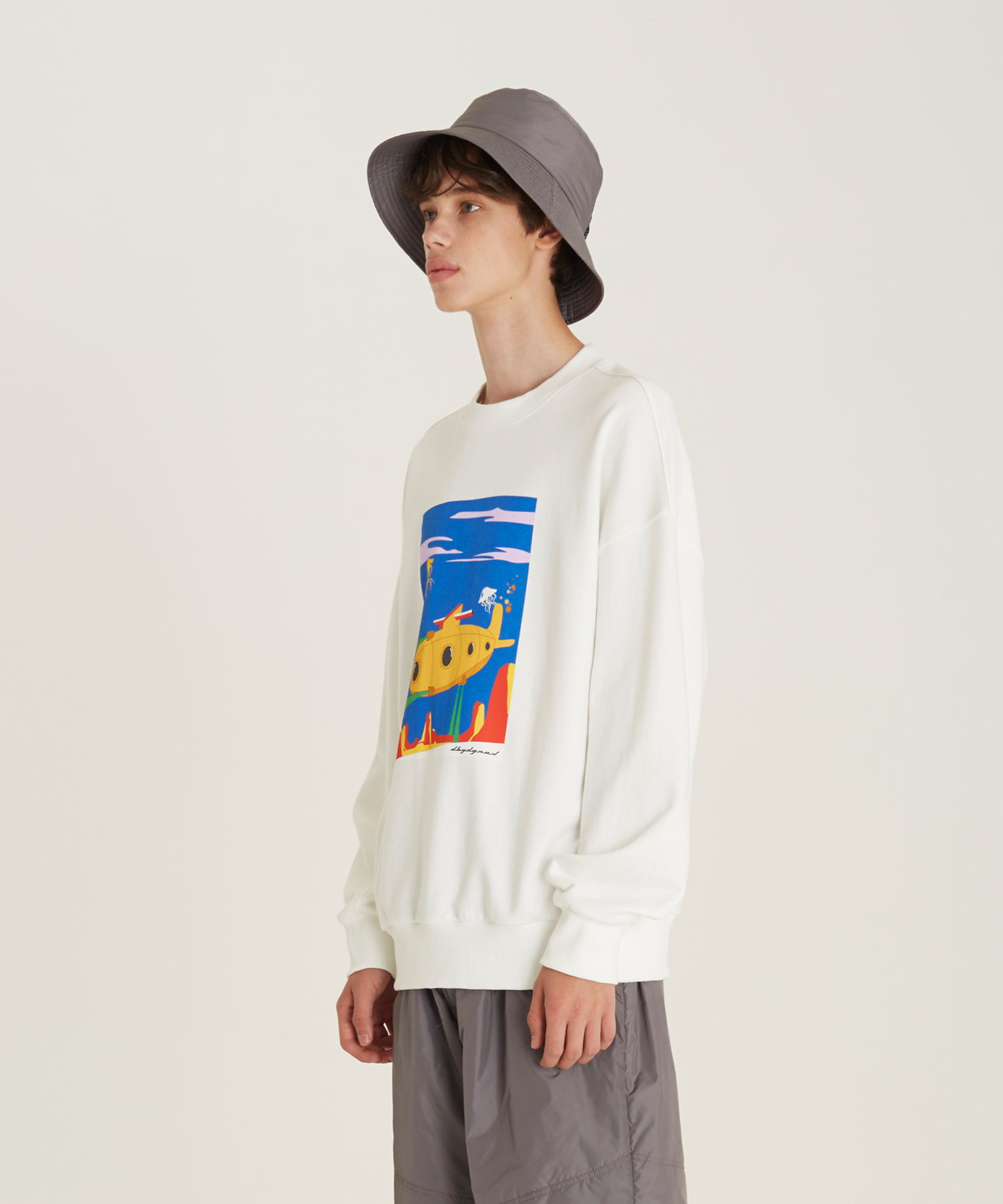 [18FW][시즌오프 50%세일] Submarine Print Sweat Shirts(WH)