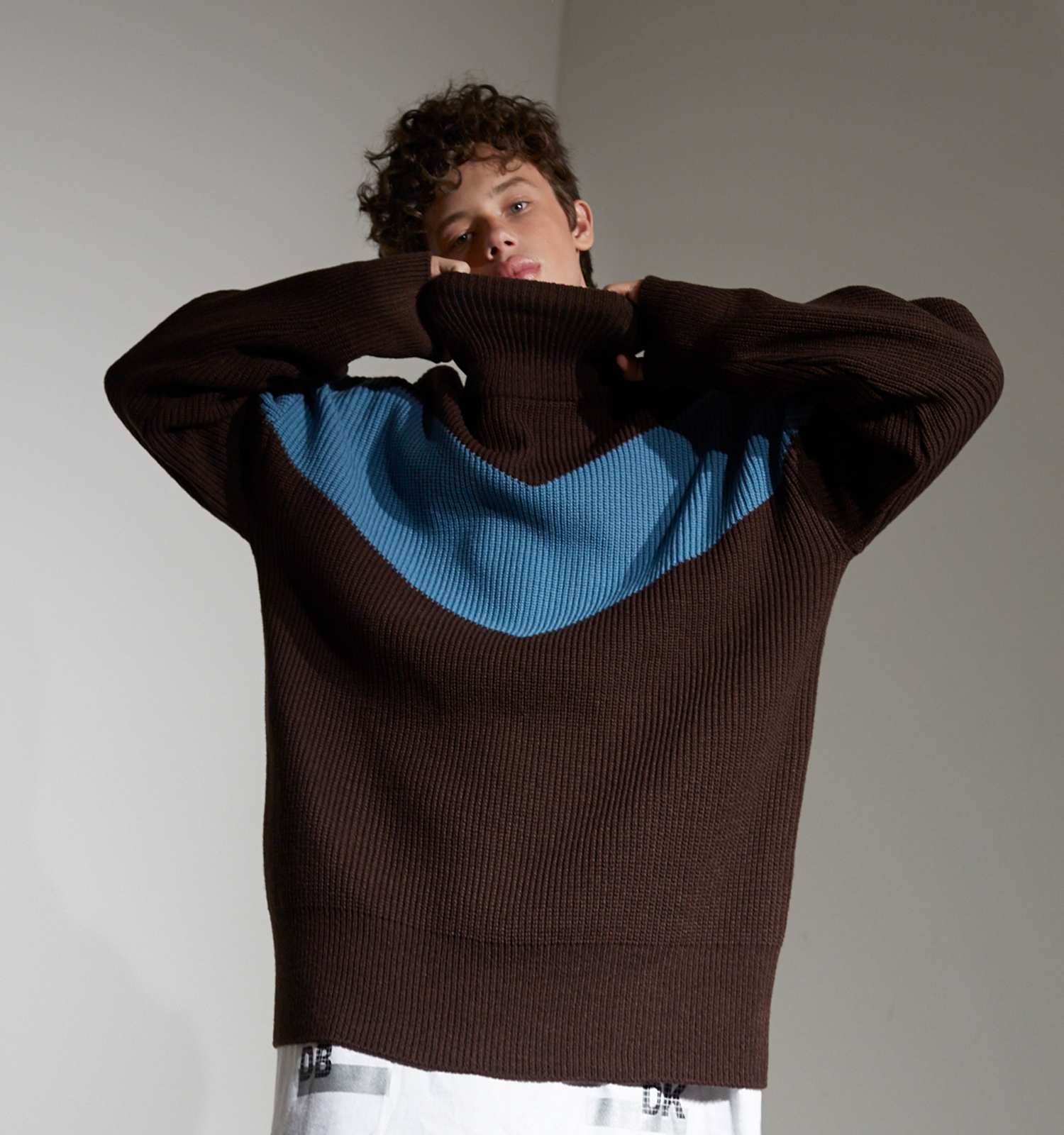 [18FW][50% 세일] Color Blocking Pull Over knit (BR)