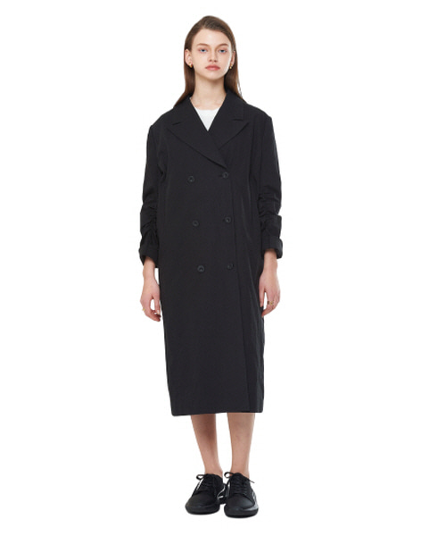 [20SS][15% SALE] Linen Double Button Coat_ W01CO0101