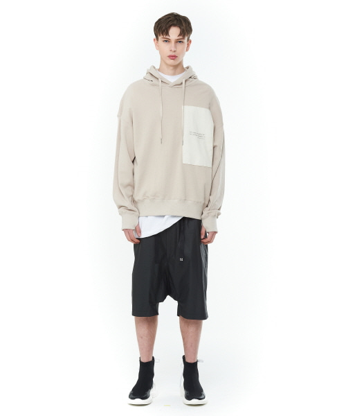 [20SS][15% SALE] Layered Patch Hood T-Shirts (BE)_ PA1TS1010
