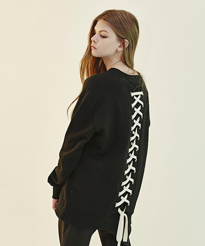 [20%세일] Back Lace-Up Sweat Shirts (IV)
