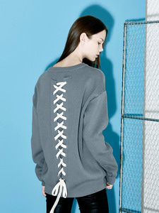 [Season Off 50% 세일]Back Lace-Up Knit (GE)