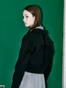 [Season Off 50% 세일]Back Lace Up Short Jumper (BK)