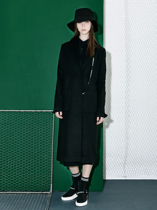 [Season Off 50% 세일]Tape Point Shawl Long Coat (BK)