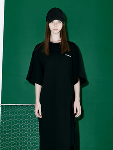 [Season Off 50% 세일]Oversize Slit Long Dress (BK)