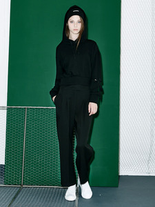 [30% 세일]Side Zipper Wide Pants (BK)