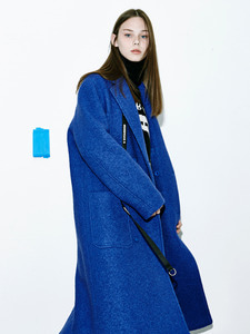 [Season Off 50% 세일]Oversize Double Pocket Coat (BL)