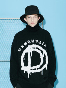 [Season Off 50% 세일]Pull Over Tutle Neck Knit (BK)