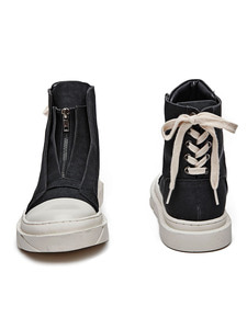 Layerd Zipper High Top (BK)