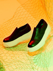 [OULET 50% SALE] Leather Slip-on (IV)