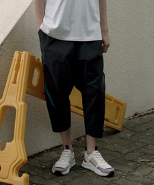 Zipper Point Baggy Pants(BK)