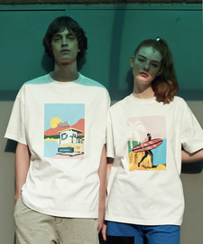 [18SS][70% 세일] Sunset Beach T-Shirts(WH)