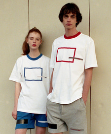 [18SS][70% 세일] Square Printing T-Shirts(RE)