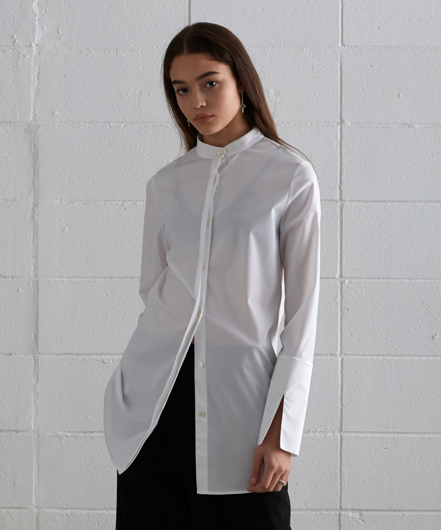 [19SS][50% 세일] China Collar Long Shirts (WH)