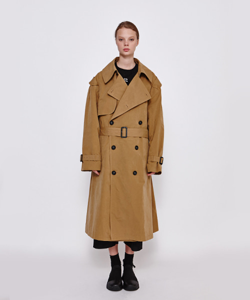 [19FW][50% 세일] Oversize Trench Coat (BE)