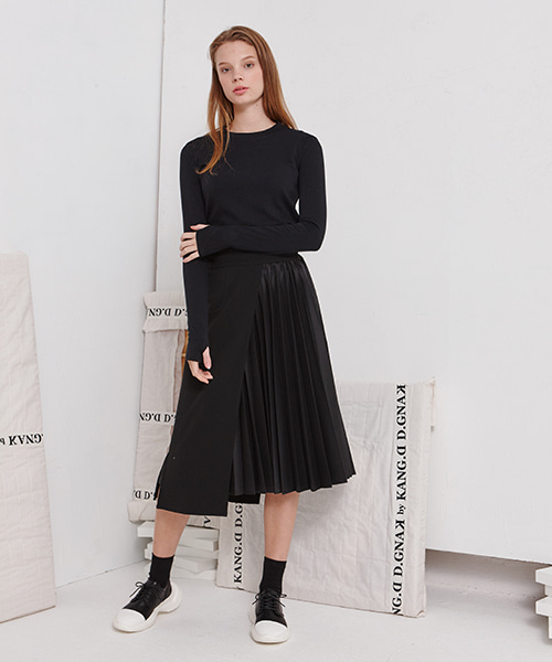 [19FW][50% 세일] Pleats Slim Skirt