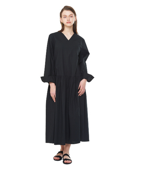 [20SS][15% SALE] V-Neck Oversize Long One-piece_ W01OP0404