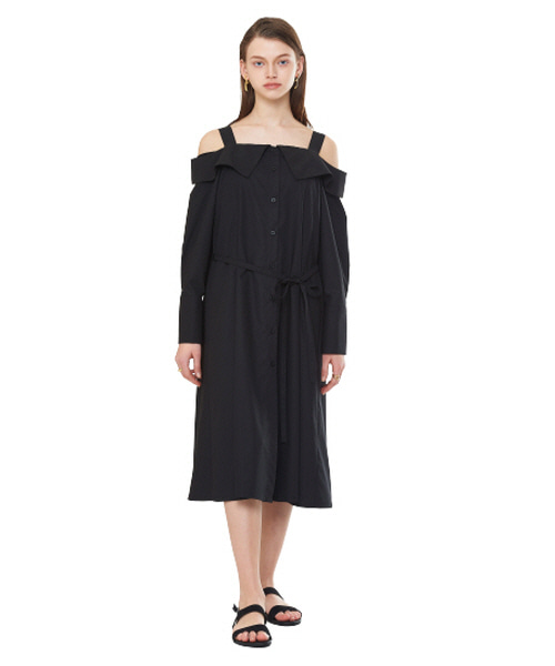 [20SS][15% SALE] Off Shoulder Shirts One-piece (BK)_ W01OP0303