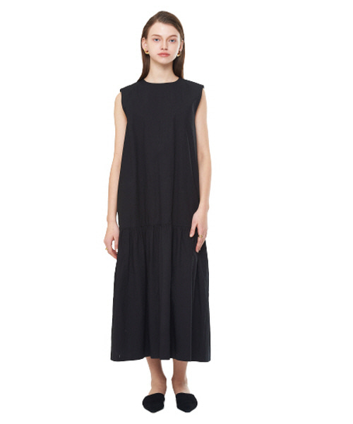 [20SS][15% SALE] Shirring Sleeveless Long One-piece_ W01OP0202