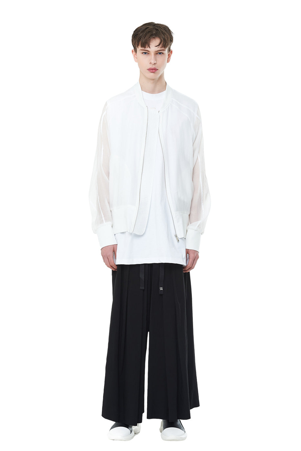 [리퍼브세일][20SS] See-through Oversize MA-1 (WH)_ PA1JP0404