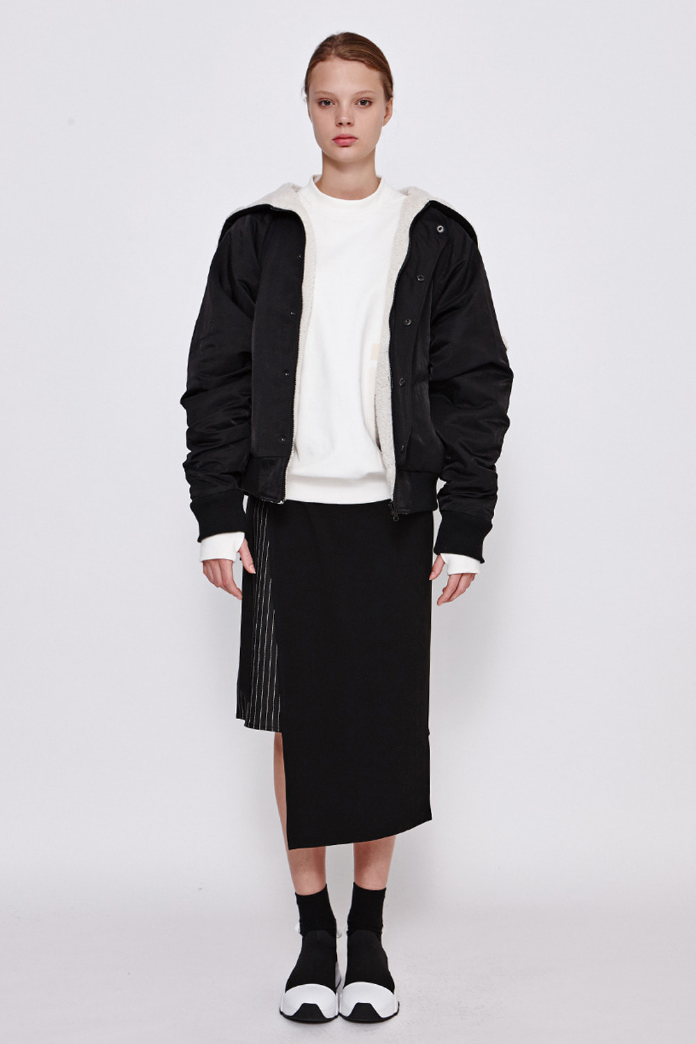 [19FW][60% 세일] Unbalance Wrap Skirt