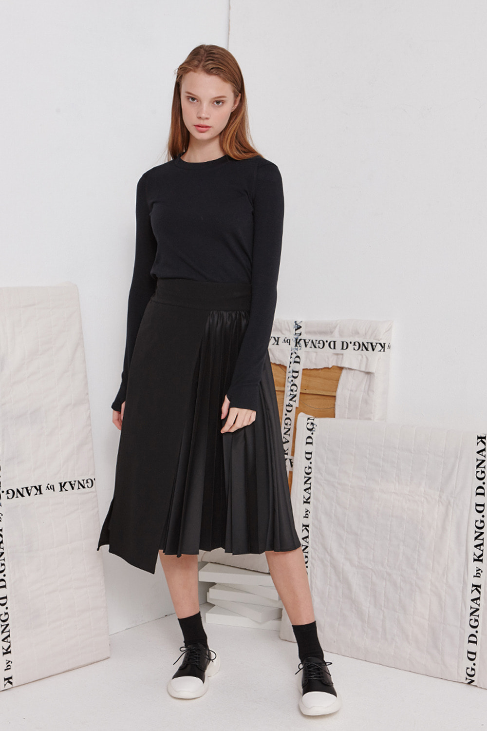 [19FW][60% 세일] Pleats Slim Skirt