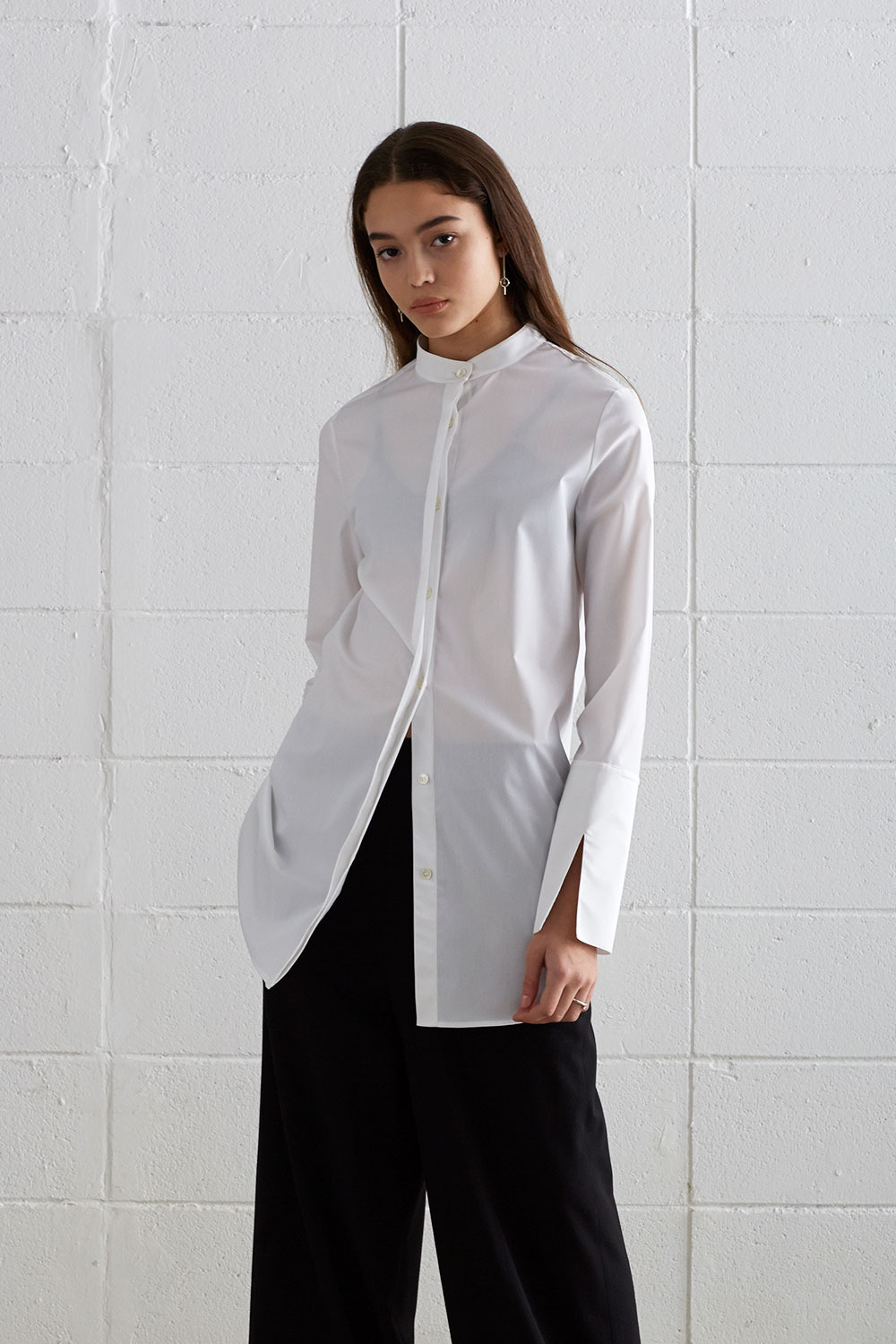 [19SS][60% 세일] China Collar Long Shirts (WH)