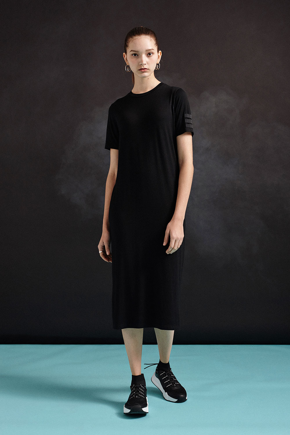 [19SS] Sleeve Label One-Piece (BK)