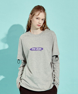 [클리어런스 70% 세일]O-Ring Layerd Sleeve T-Shirts (GE)