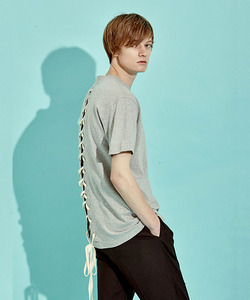 [BF 40%세일]Back Lace-Up T-Shirts (GE)