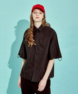 [OULET 70% 세일]O-Ring Oversize Shirts (BK)