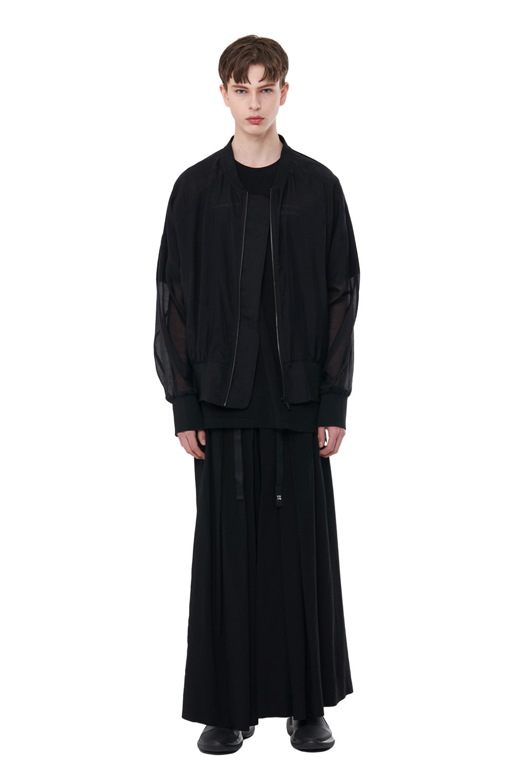 [20SS][50%SALE] See-through Oversize MA-1 (BK)_ PA1JP0303